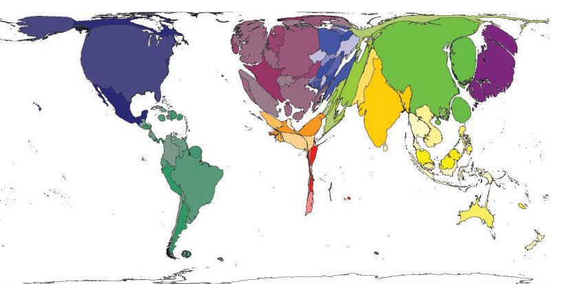 Worldmapper - Internetuser 2007