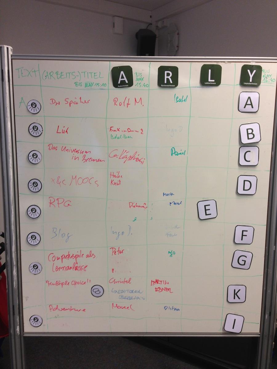 Bild des Booksprints bei den 11. Koblenzer e-Learning-Tagen