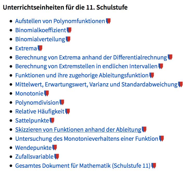 Austria Forum: Mathematik 11. Schulstufe